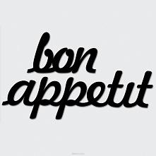 Napis na ścianę - bon appetit