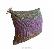 Piękna poduszka dziergana &...