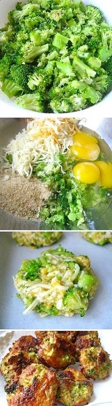 Brokułowe kotleciki. Kroimy drobno brokuły. Dodajemy  sól,pieprz,tarty ser, j...