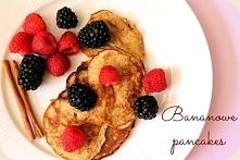 Bananowe pancakes  Przepis po kliknieciu w zdjęcie ;)