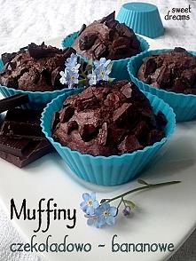 Muffiny czekoladowo - banan...