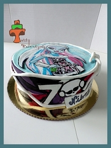 Malowany tort Monster High ...
