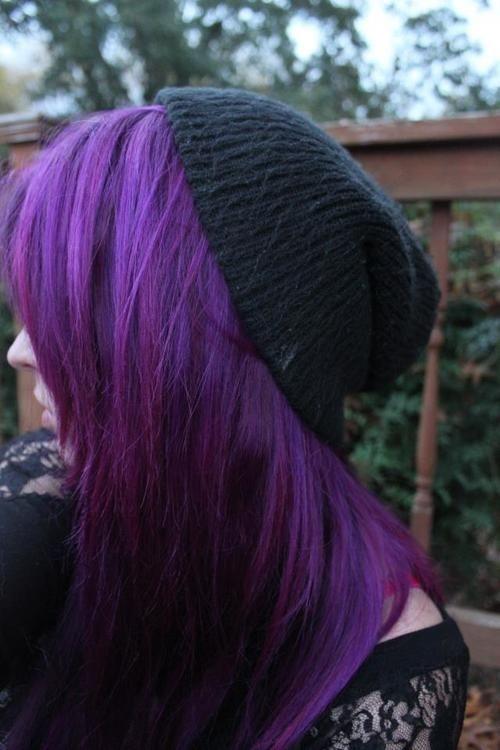 Fioletowe Włosy Na Kolorowe Włosy Zszywka Pl