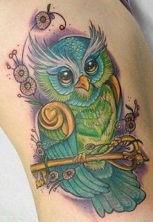 tatuaż sowy