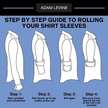 Podwijanie rękawów koszuli według Adama Levine'a z Maroon 5 ;) Warto dbać o detale :)