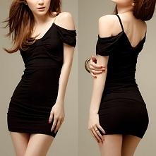 Sexy V-neck Off-shoulder Slim Fit Sling Dress
