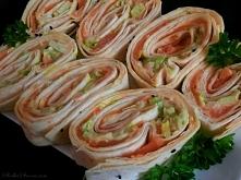 Roladki z Tortilli na Zimno z Łososiem Wędzonym i Awokado - przepis po kliknięciu w zdjęcie