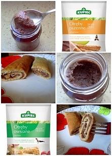Krem czekoladowy + naleśniki otrębowe  Przepis po kliknięciu w zdjęcie ;)