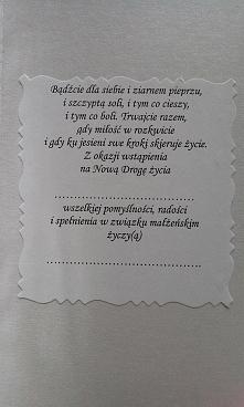 W Dniu Ślubu - Kartka w pudełeczku - życzenia