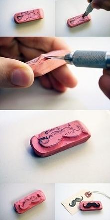 Pieczątka z gumki do ołówka. Więcej po kliknięciu w zdjęcie.
