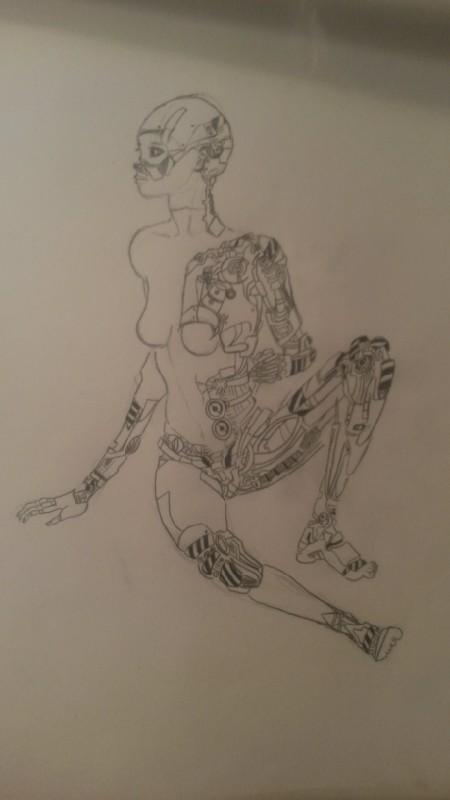 Kobieta - robot. Było z tym trochę pracy, ale myślę że ten rysunek jest tego wart. Co myślicie?