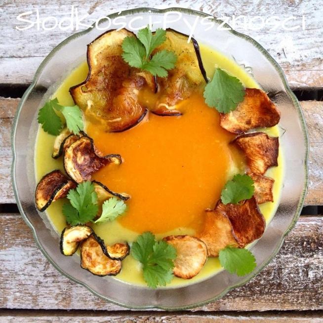 zupa krem, krem groszkowy,krem dyniowy,chipsy warzywne