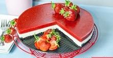 Torcik truskawkowy z Oreo   truskawki ciasto z truskawkami ciasto bez pieczenia ciasto z oreo tort torcik oreo   200 g białej czekolady 2 czubate łyżeczki żelatyny + ok 70 ml wo...