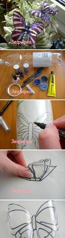 motyl z butelki