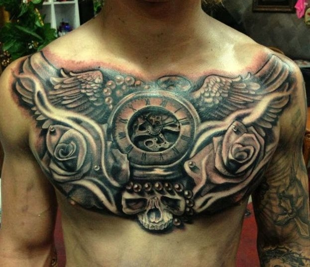 Tatuaże Na Klatce Piersiowej Na Tatuaże Zszywkapl