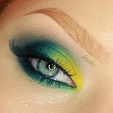 Soczyste zielone oko wykonane niemalże całkowicie paletką Sleek Del Mar II Tutorial do tego makijażu na moim kanale YouTube - kitulecmakeup