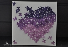 obraz ombre fiolety motylki