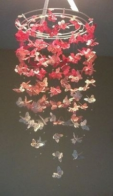 motylki ombre pink