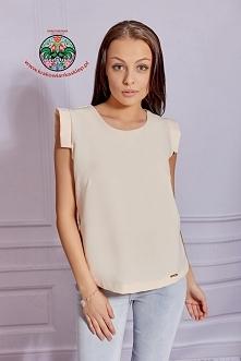 elegancka pudrowa bluzka