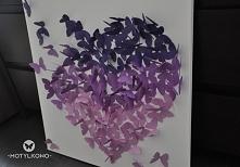 motylki ombre obraz 50/50cm