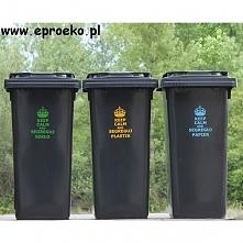 Klasyczny pojemnik 120 litrowy do segregacji odpadów w nieco innym wydaniu