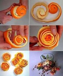 Ozdobna skórka pomarańczy.