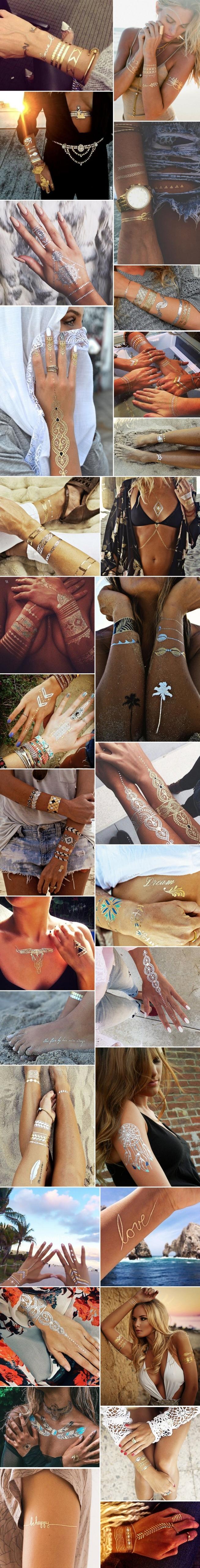 Metaliczne tatuaże