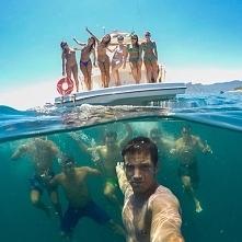 podwodne selfie