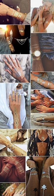 Metaliczne tatuaże.