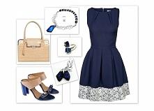 Czy wam też się tak bardzo podoba połączenie eleganckiej, granatowej sukienki...