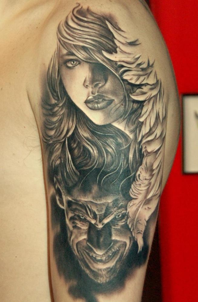 Anioł I Diabeł Na Tatuaże Zszywkapl