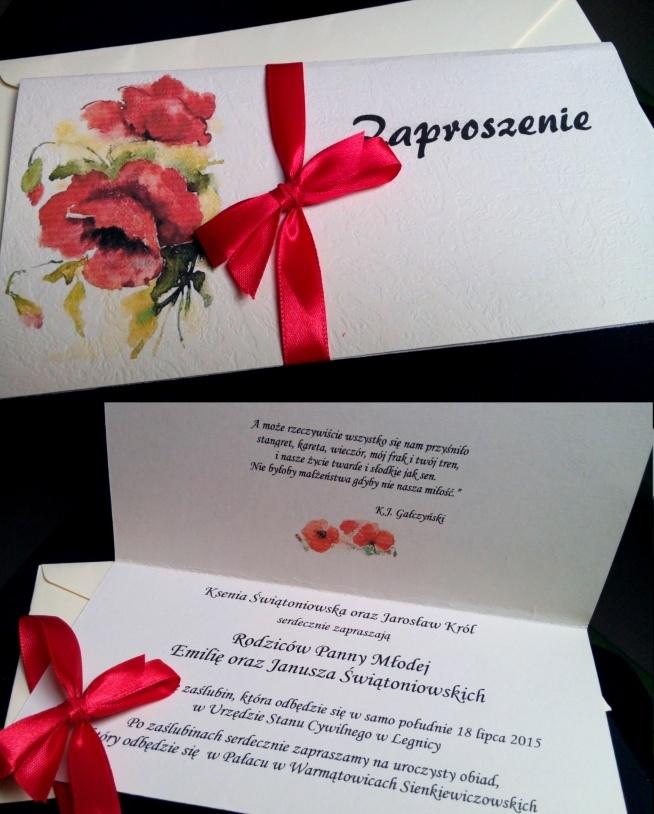Zaproszenia ślubne Samodzielnie Zaprojektowane I Wykonane Na ślub