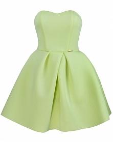 gorsetowa sukienka limonka