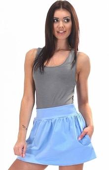 SIMMI S051 spódnica błękitna Dziewczęca mini spódniczka - wykonana z miękkiej...