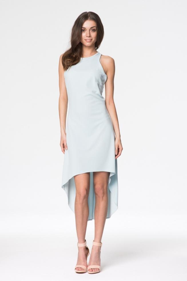 Elegancka sukienka z dłuższym tyłem. To cudo znajdziecie na --> fashionata.pl