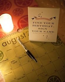 Świetny pomysł na mini - księgę gości, a przy okazji spersonalizowany kalenda...