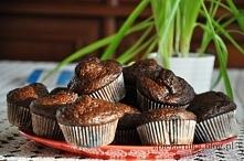 Cukinia, czekolada, migdały - oto przepis na cudne muffinki :) łakocie w wers...