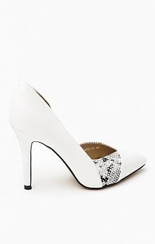Eleganckie białe szpilki czekają na Was w naszym sklepie online. Szyk i elega...