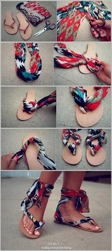 pomysł na wakacyjne sandałki
