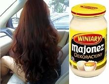 Domowa maseczka do włosów, tym razem z wykorzystaniem majonezu :D Przepis jak...