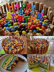 Mój pierwszy w życiu tort, wykonany specjalnie na 4-te urodziny braciszka cio...