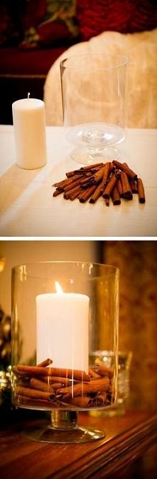cynamonowa świeczka DIY