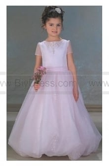 Cheap,A Line Round neck Floor Length Flower girls Dress is Low Price