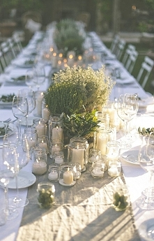 Piesna dekoracja stołu w stylu rustykalnym. A w jakim stylu będzie wasze wesele?