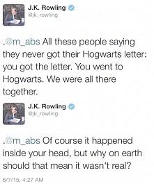 Kocham tą kobietę <3 Rowling moją Królową <3