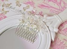 Biżuteryjny, ślubny grzebyk do włosów.  Do kupienia w sklepie internetowym Ma...