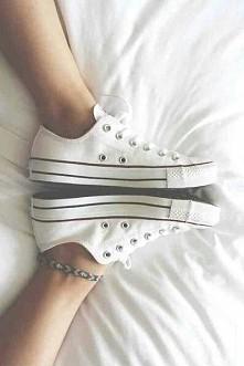 converse białe ♥