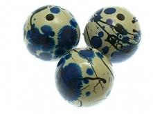 Koraliki Akrylowe Malowane Nici Niebieski