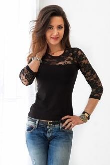 Na naszym FB pobierz rabat na zakupy! Kliknij w zdjęcie by przejść do sklepu. Czarna bluzka z koronką.