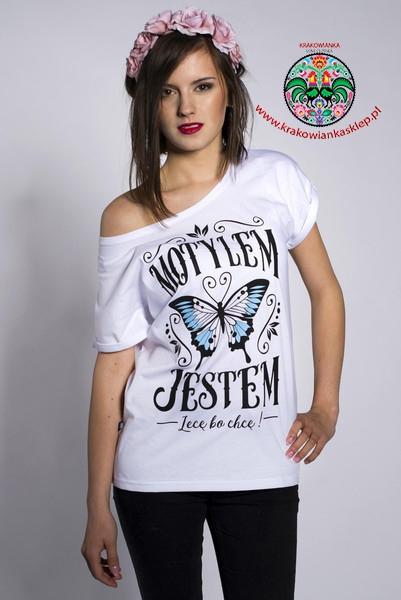 motylem jestem koszulka